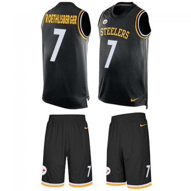 Nike Steelers #7 Ben Roethlisberger Black Team Color Men's Stitched NFL Limited Tank Top Suit Jersey
