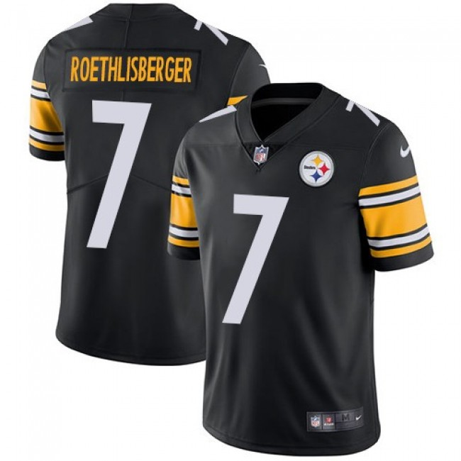 Pittsburgh Steelers #7 Ben Roethlisberger Black Team Color Youth Stitched NFL Vapor Untouchable Limited Jersey