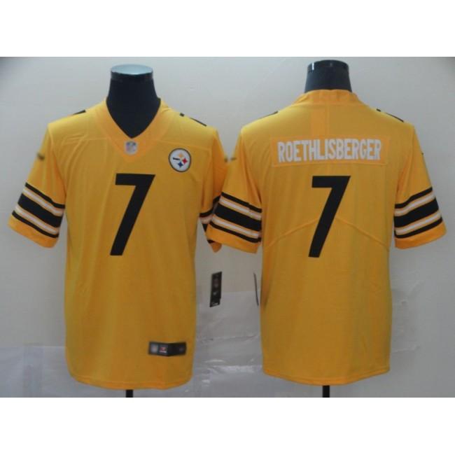 Nike Steelers #7 Ben Roethlisberger Gold Men's Stitched NFL Limited Inverted Legend Jersey