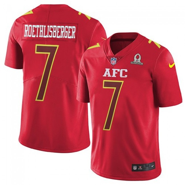 Pittsburgh Steelers #7 Ben Roethlisberger Red Youth Stitched NFL Limited AFC 2017 Pro Bowl Jersey