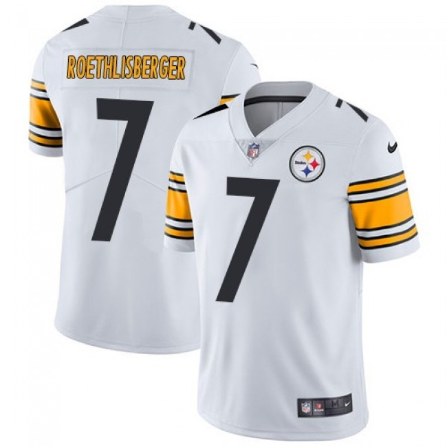 Nike Steelers #7 Ben Roethlisberger White Men's Stitched NFL Vapor Untouchable Limited Jersey
