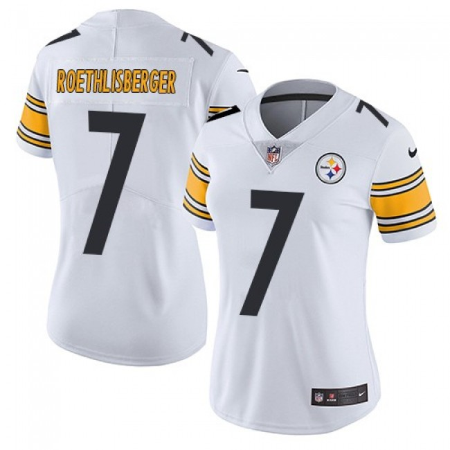 Women's Steelers #7 Ben Roethlisberger White Stitched NFL Vapor Untouchable Limited Jersey