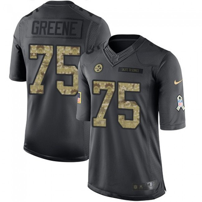 Pittsburgh Steelers #75 Joe Greene Black Youth Stitched NFL Limited 2016 Salute to Service Jersey