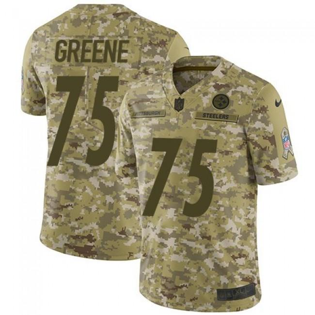 Nike Steelers #75 Joe Greene Camo Men's Stitched NFL Limited 2018 Salute To Service Jersey