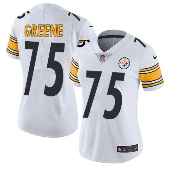 Women's Steelers #75 Joe Greene White Stitched NFL Vapor Untouchable Limited Jersey