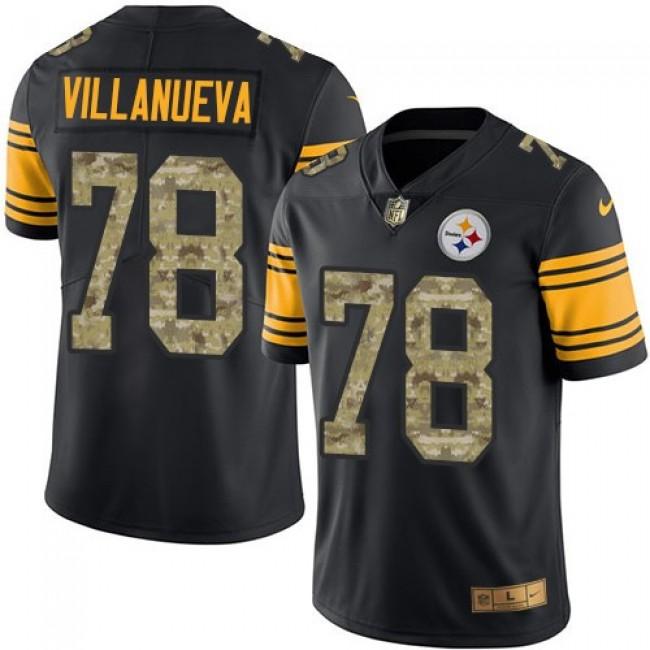 Nike Steelers #78 Alejandro Villanueva Black/Camo Men's Stitched NFL Limited Rush Jersey