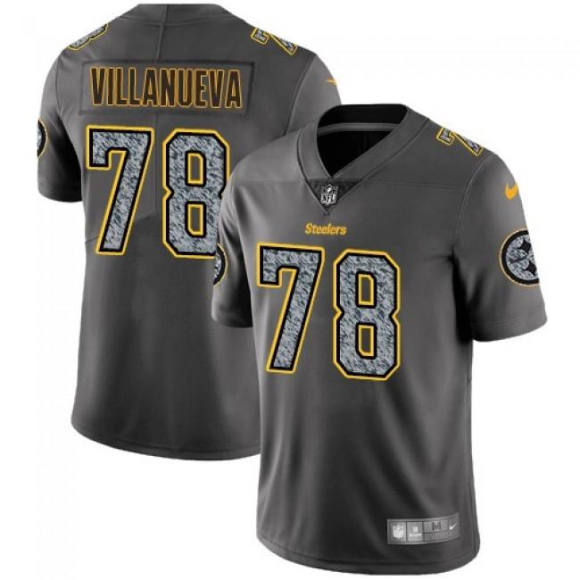 Nike Steelers #78 Alejandro Villanueva Gray Static Men's Stitched NFL Vapor Untouchable Limited Jersey