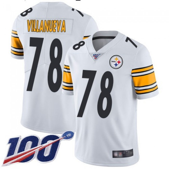 Nike Steelers #78 Alejandro Villanueva White Men's Stitched NFL 100th Season Vapor Limited Jersey