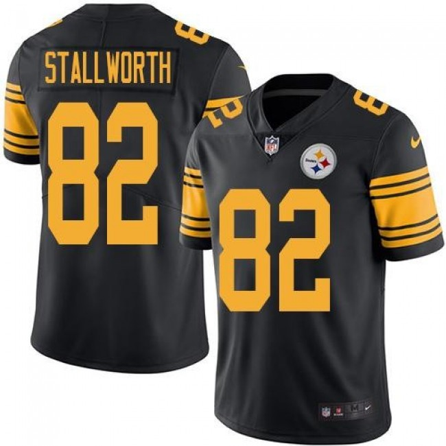 Nike Steelers #82 John Stallworth Black Men's Stitched NFL Limited Rush Jersey