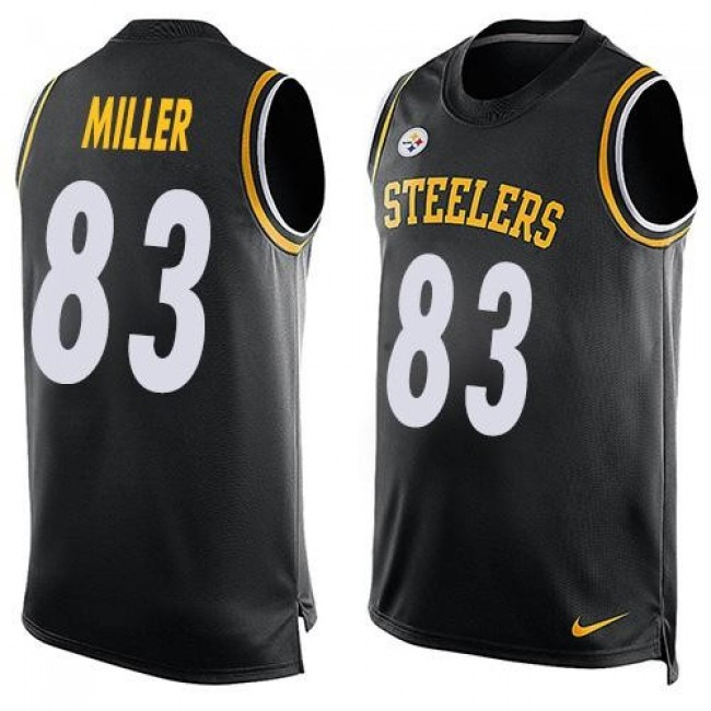 Nike Steelers #83 Heath Miller Black Team Color Men's Stitched NFL Limited Tank Top Jersey