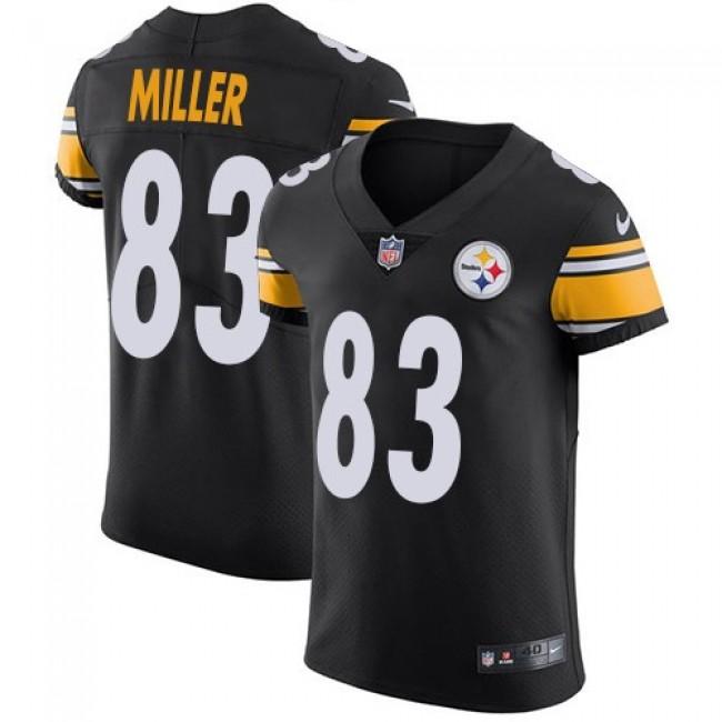 Nike Steelers #83 Heath Miller Black Team Color Men's Stitched NFL Vapor Untouchable Elite Jersey