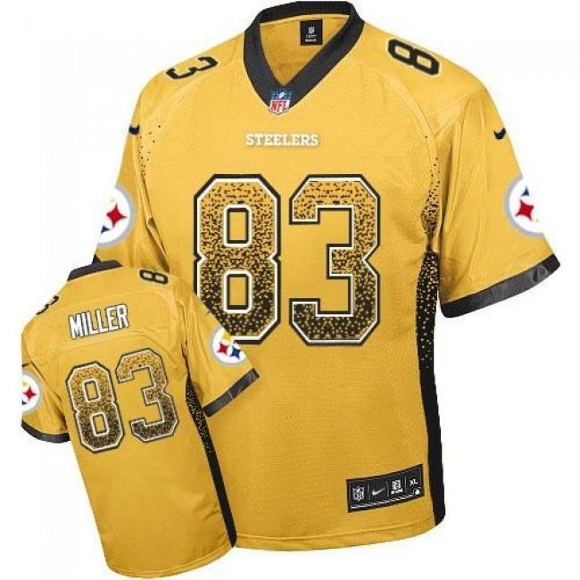 Nike Steelers #83 Heath Miller Gold Men's Stitched NFL Elite Drift Fashion Jersey