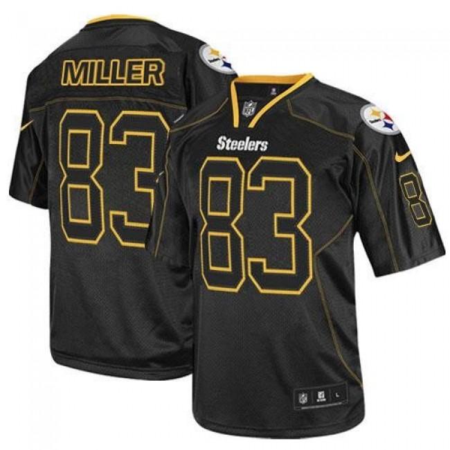 Nike Steelers #83 Heath Miller Lights Out Black Men's Stitched NFL Elite Jersey