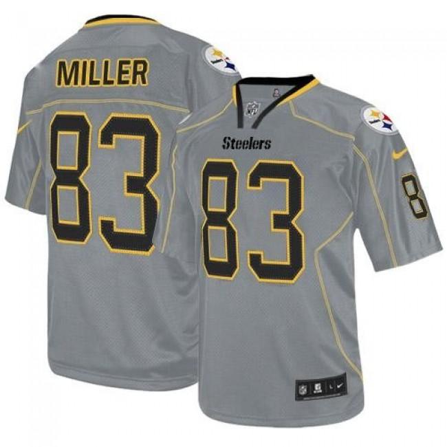 Nike Steelers #83 Heath Miller Lights Out Grey Men's Stitched NFL Elite Jersey