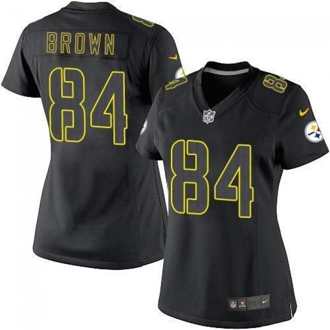 Women's Steelers #84 Antonio Brown Black Impact Stitched NFL Limited Jersey
