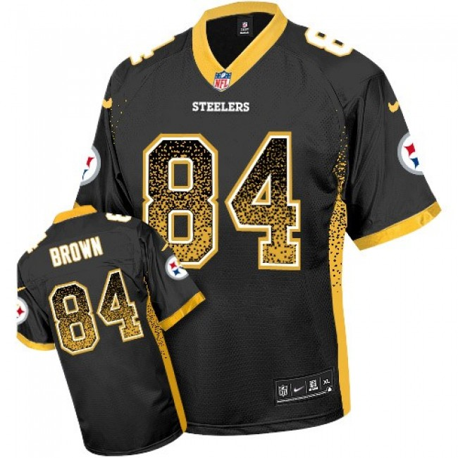 Pittsburgh Steelers #84 Antonio Brown Black Team Color Youth Stitched NFL Elite Drift Fashion Jersey
