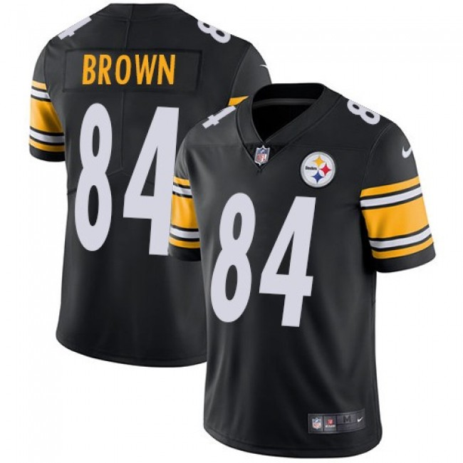 Pittsburgh Steelers #84 Antonio Brown Black Team Color Youth Stitched NFL Vapor Untouchable Limited Jersey