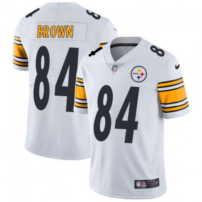 Nike Steelers #84 Antonio Brown White Men's Stitched NFL Vapor Untouchable Limited Jersey