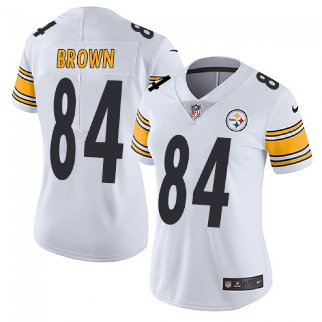 Women's Steelers #84 Antonio Brown White Stitched NFL Vapor Untouchable Limited Jersey