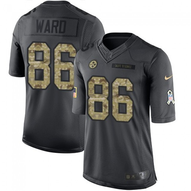 Nike Steelers #86 Hines Ward Black Men's Stitched NFL Limited 2016 Salute to Service Jersey