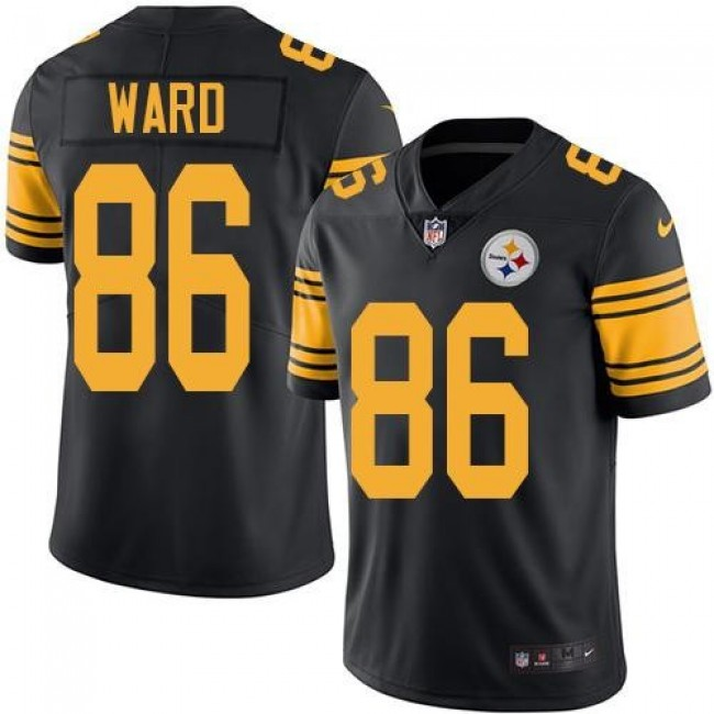 Nike Steelers #86 Hines Ward Black Men's Stitched NFL Limited Rush Jersey