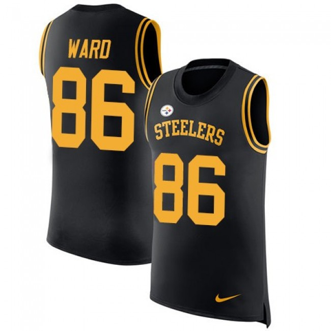 Nike Steelers #86 Hines Ward Black Team Color Men's Stitched NFL Limited Rush Tank Top Jersey