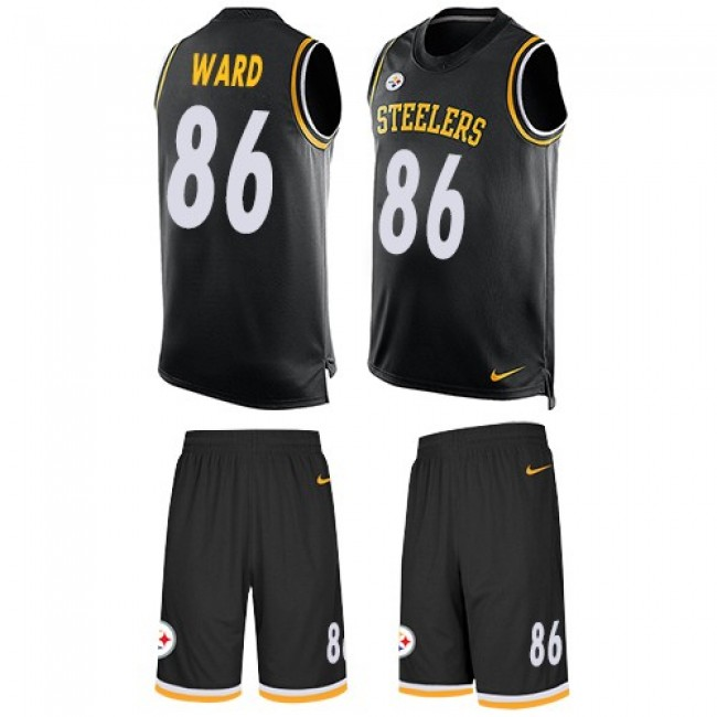Nike Steelers #86 Hines Ward Black Team Color Men's Stitched NFL Limited Tank Top Suit Jersey