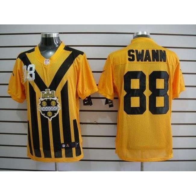 Nike Steelers #88 Lynn Swann Gold 1933s Throwback Men's Embroidered NFL Elite Jersey
