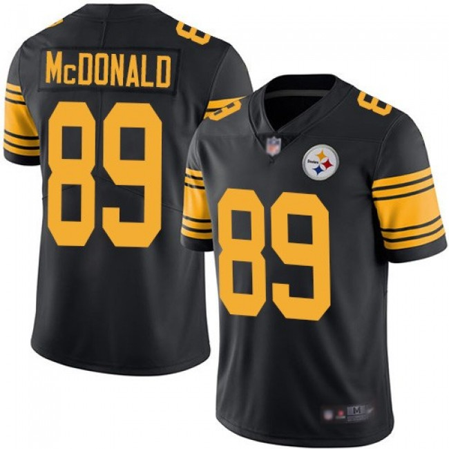 Nike Steelers #89 Vance McDonald Black Men's Stitched NFL Limited Rush Jersey