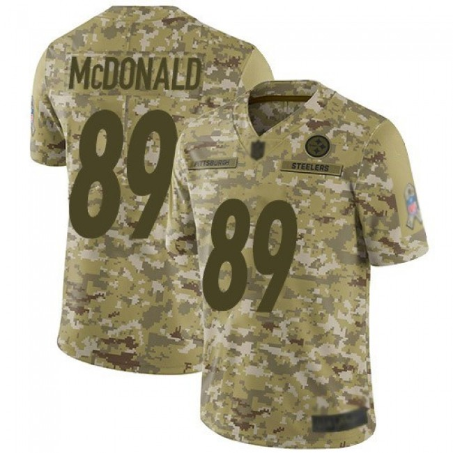 Nike Steelers #89 Vance McDonald Camo Men's Stitched NFL Limited 2018 Salute To Service Jersey