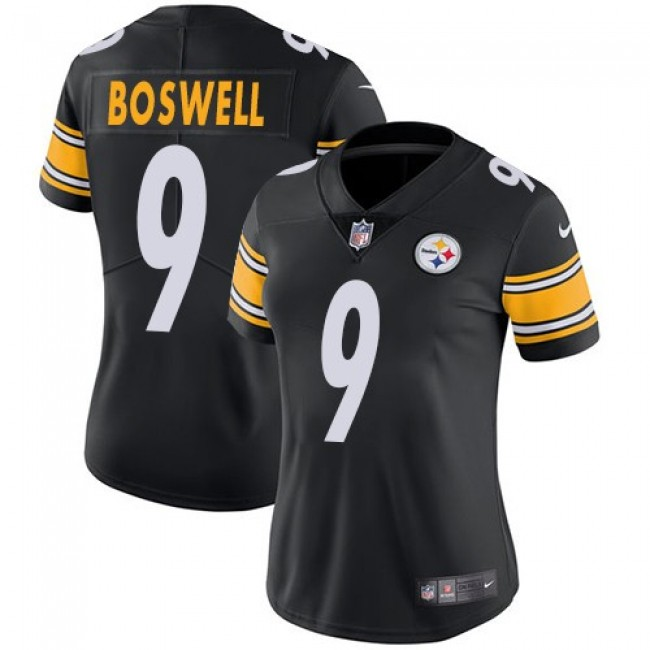 Women's Steelers #9 Chris Boswell Black Team Color Stitched NFL Vapor Untouchable Limited Jersey