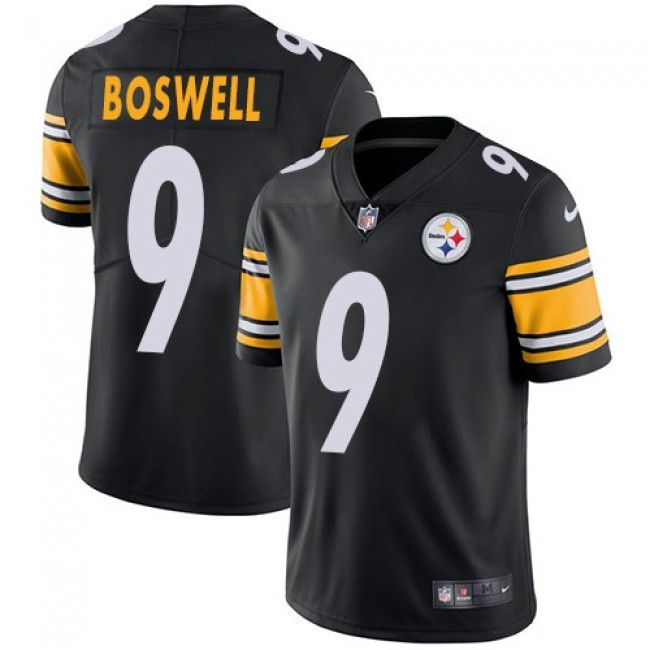 Pittsburgh Steelers #9 Chris Boswell Black Team Color Youth Stitched NFL Vapor Untouchable Limited Jersey