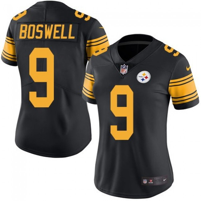 Women's Steelers #9 Chris Boswell Black Stitched NFL Limited Rush Jersey