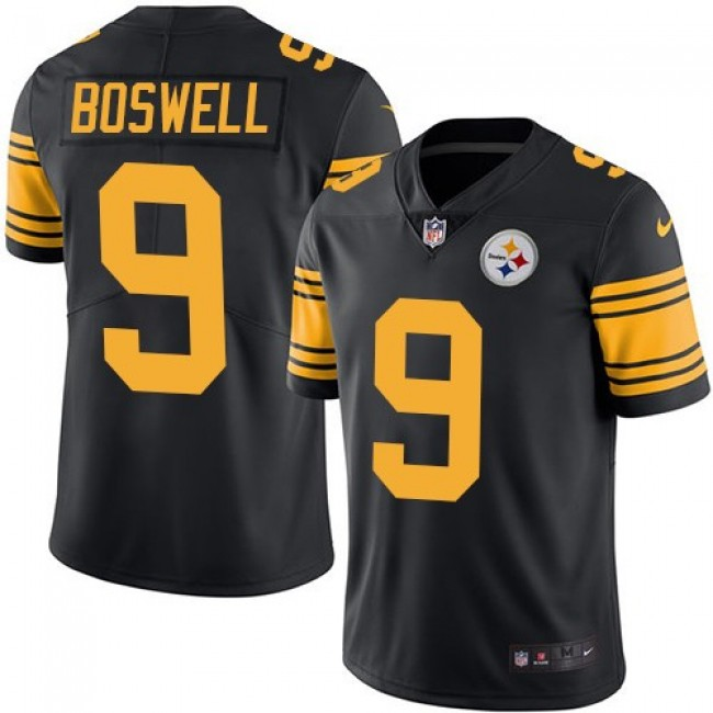 Pittsburgh Steelers #9 Chris Boswell Black Youth Stitched NFL Limited Rush Jersey