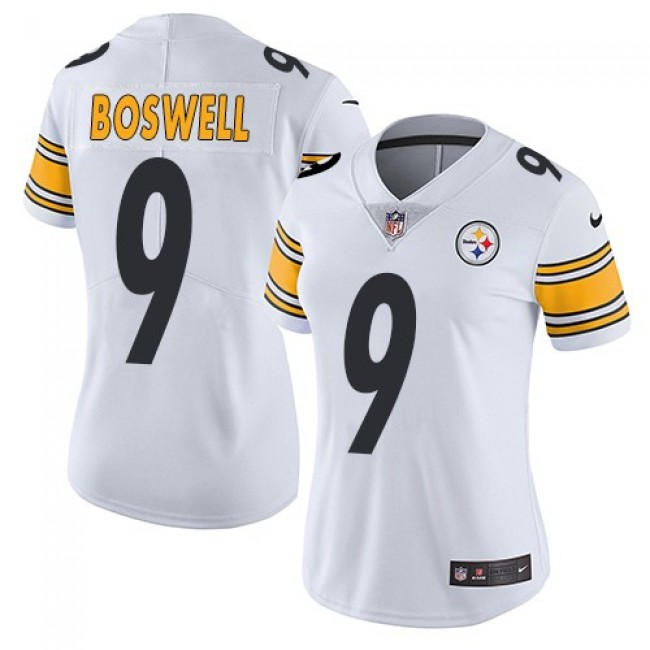 Women's Steelers #9 Chris Boswell White Stitched NFL Vapor Untouchable Limited Jersey