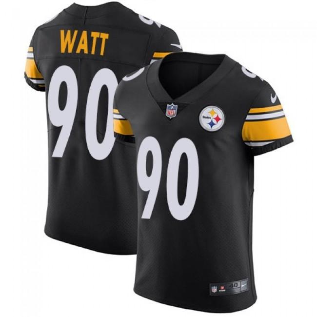Nike Steelers #90 T. J. Watt Black Team Color Men's Stitched NFL Vapor Untouchable Elite Jersey