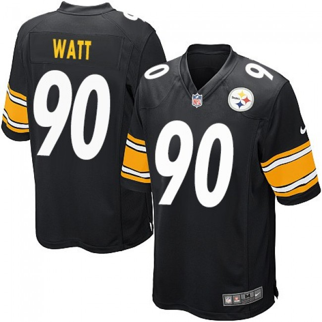 Pittsburgh Steelers #90 T. J. Watt Black Team Color Youth Stitched NFL Elite Jersey