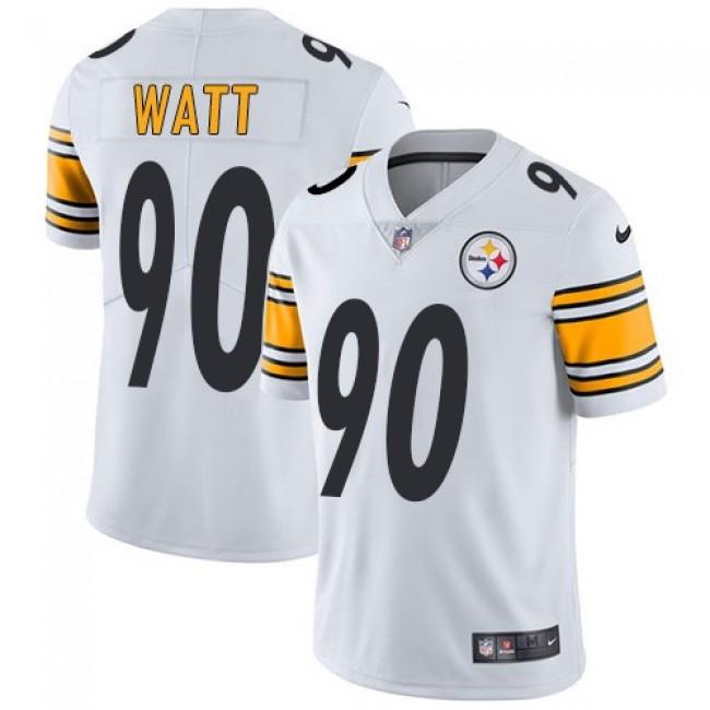 Nike Steelers #90 T. J. Watt White Men's Stitched NFL Vapor Untouchable Limited Jersey