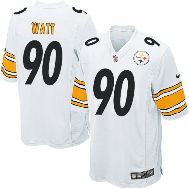 Pittsburgh Steelers #90 T. J. Watt White Youth Stitched NFL Elite Jersey