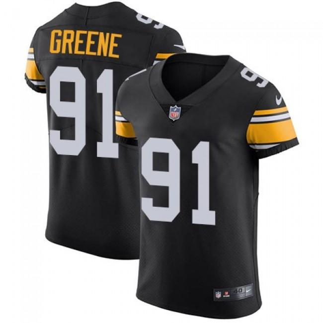 Nike Steelers #91 Kevin Greene Black Alternate Men's Stitched NFL Vapor Untouchable Elite Jersey