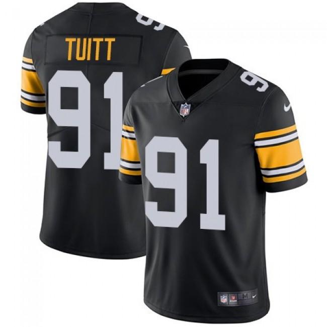 Nike Steelers #91 Stephon Tuitt Black Alternate Men's Stitched NFL Vapor Untouchable Limited Jersey