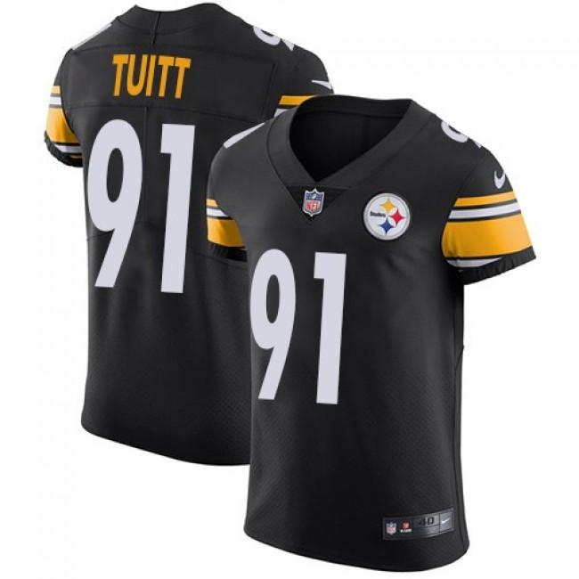 Nike Steelers #91 Stephon Tuitt Black Team Color Men's Stitched NFL Vapor Untouchable Elite Jersey
