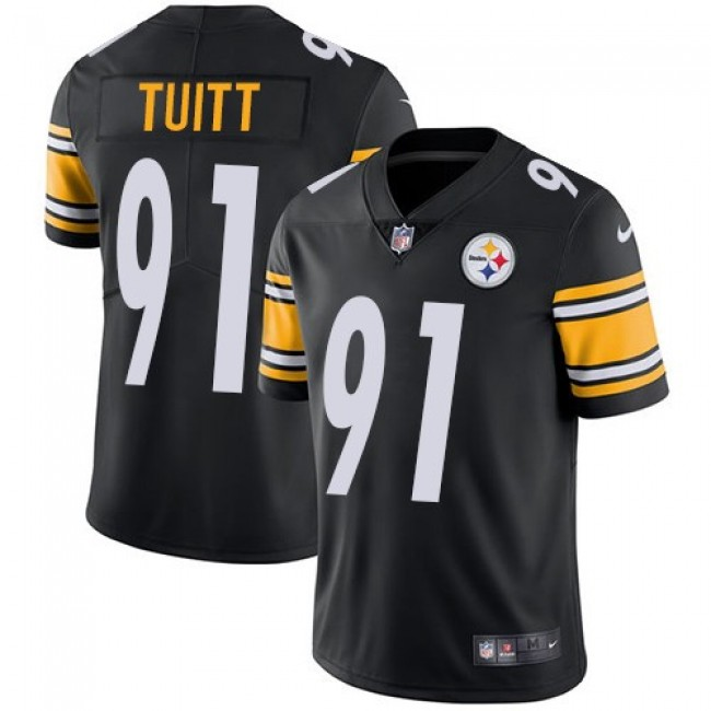Pittsburgh Steelers #91 Stephon Tuitt Black Team Color Youth Stitched NFL Vapor Untouchable Limited Jersey