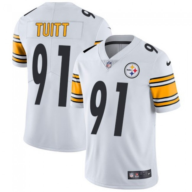 Nike Steelers #91 Stephon Tuitt White Men's Stitched NFL Vapor Untouchable Limited Jersey