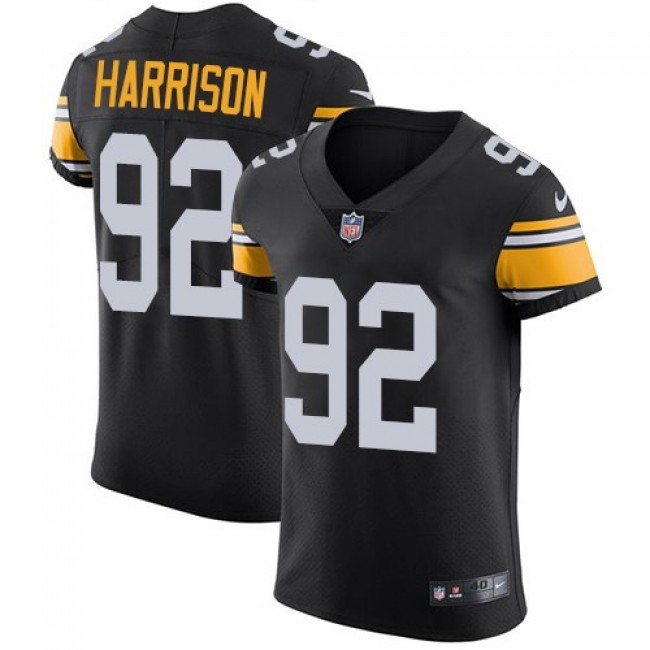 Nike Steelers #92 James Harrison Black Alternate Men's Stitched NFL Vapor Untouchable Elite Jersey