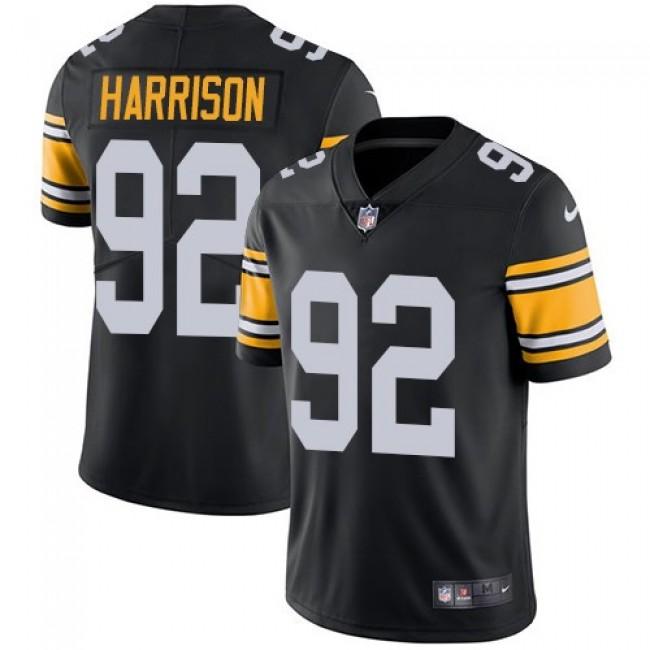 Nike Steelers #92 James Harrison Black Alternate Men's Stitched NFL Vapor Untouchable Limited Jersey