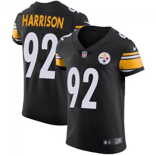 Nike Steelers #92 James Harrison Black Team Color Men's Stitched NFL Vapor Untouchable Elite Jersey