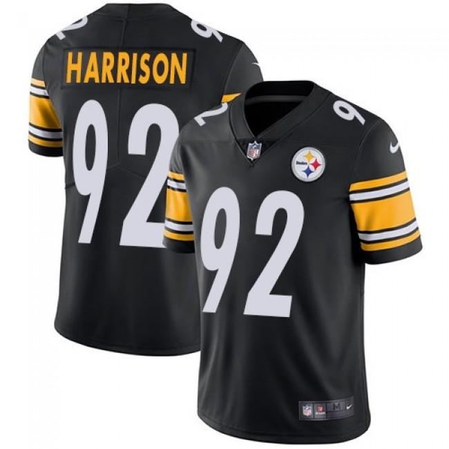 Nike Steelers #92 James Harrison Black Team Color Men's Stitched NFL Vapor Untouchable Limited Jersey