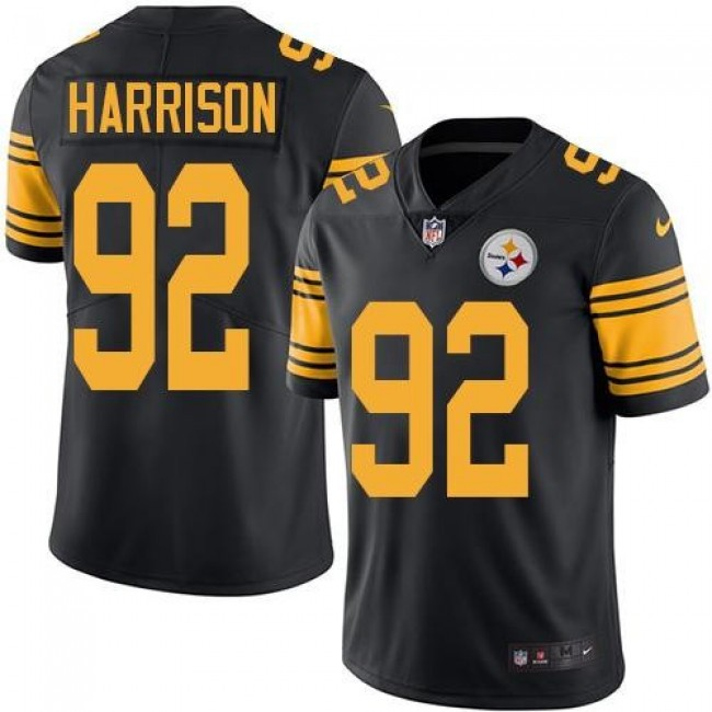 Pittsburgh Steelers #92 James Harrison Black Youth Stitched NFL Limited Rush Jersey