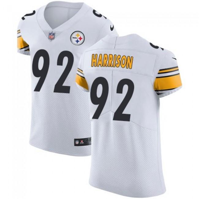 Nike Steelers #92 James Harrison White Men's Stitched NFL Vapor Untouchable Elite Jersey